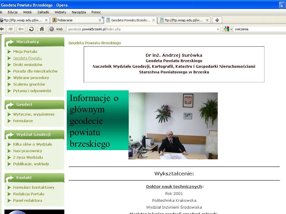 Informacje o głównym geodecie powiatu brzeskiego