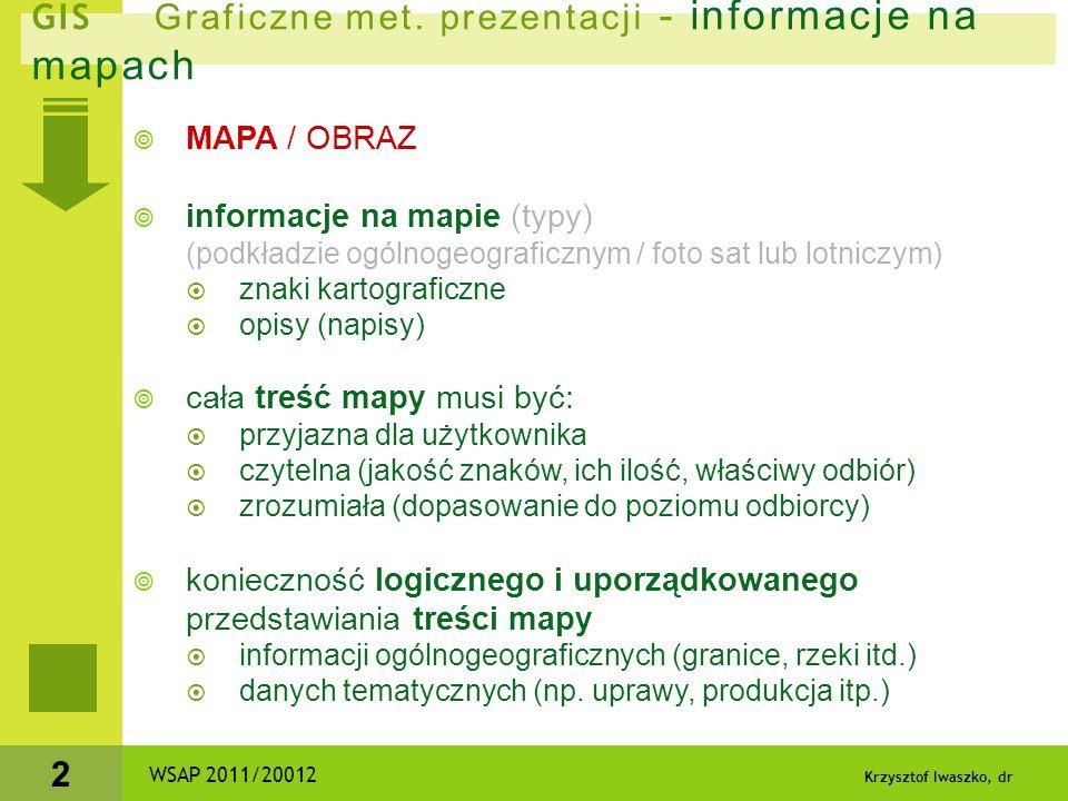 GIS Graficzne met. prezentacji - informacje na mapach