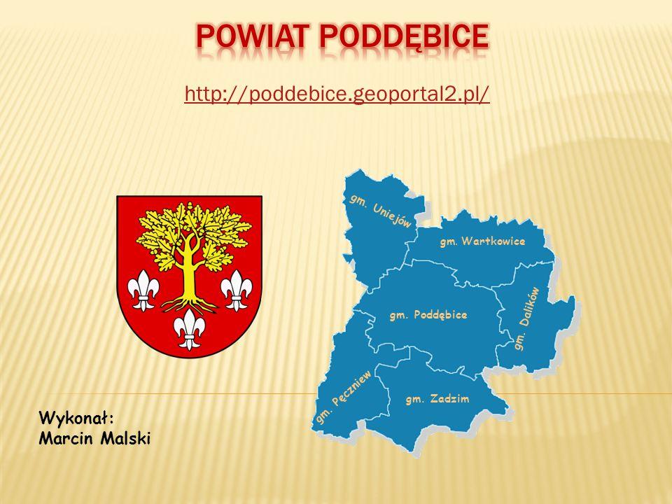 POWIAT PODDĘBICE http://poddebice.geoportal2.pl/ Wykonał: