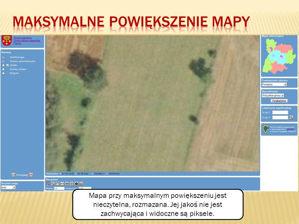 Maksymalne powiększenie Mapy