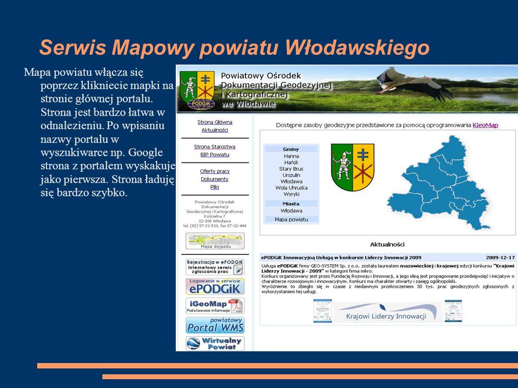 Serwis Mapowy powiatu Włodawskiego