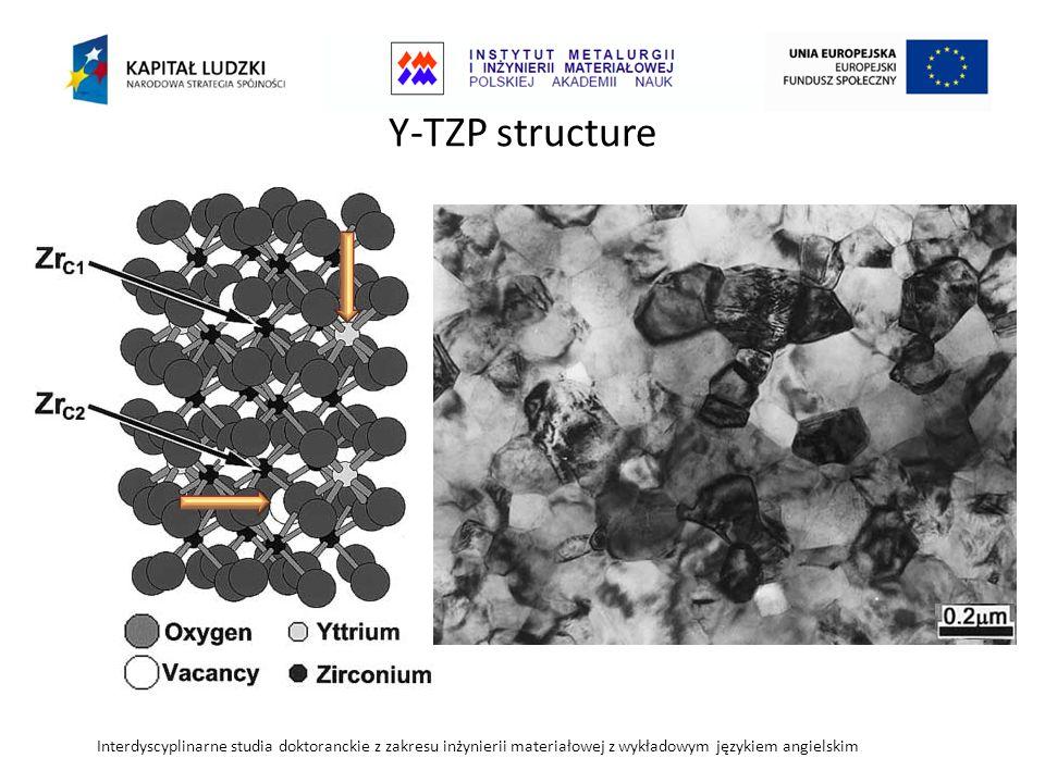 Y-TZP structure Interdyscyplinarne studia doktoranckie z zakresu inżynierii materiałowej z wykładowym językiem angielskim.