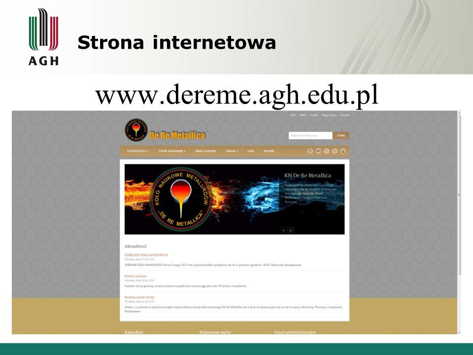 Strona internetowa www.dereme.agh.edu.pl