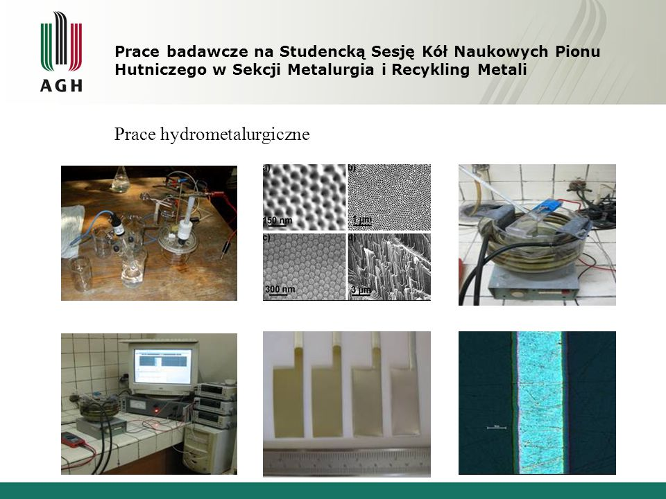 Prace hydrometalurgiczne