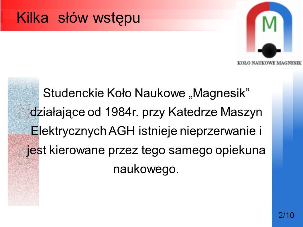 """Kilka słów wstępu Studenckie Koło Naukowe """"Magnesik"""