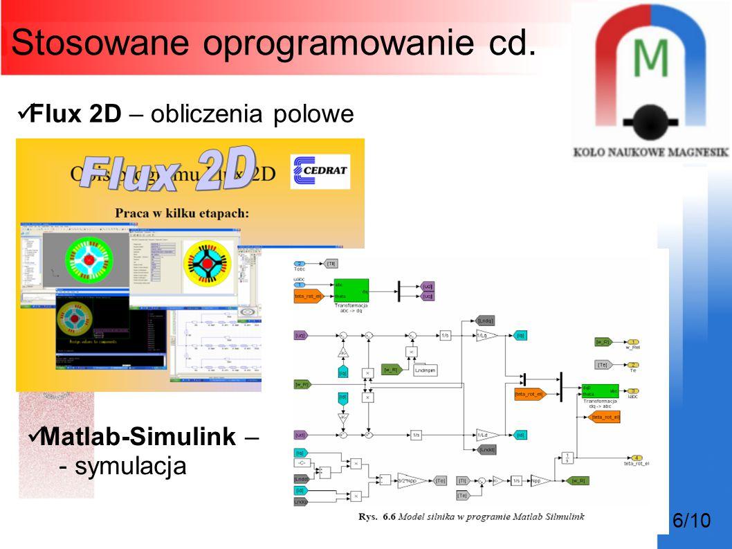 Stosowane oprogramowanie cd.