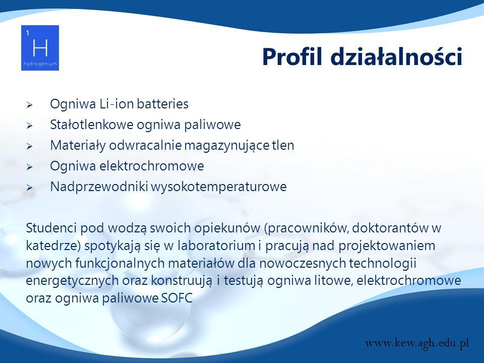 Profil działalności Ogniwa Li-ion batteries