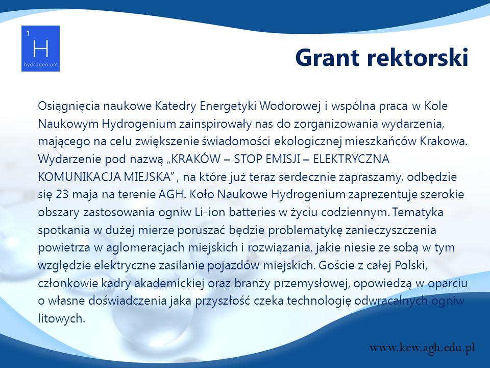 Grant rektorski www.kew.agh.edu.pl