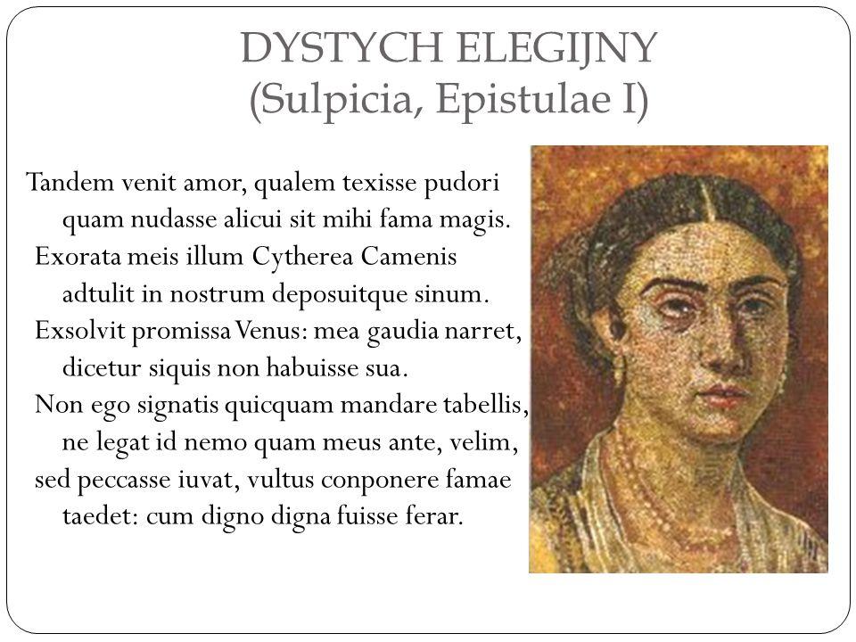 DYSTYCH ELEGIJNY (Sulpicia, Epistulae I)
