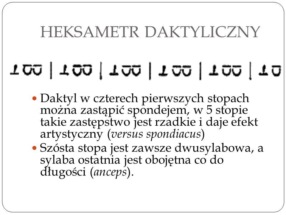 HEKSAMETR DAKTYLICZNY