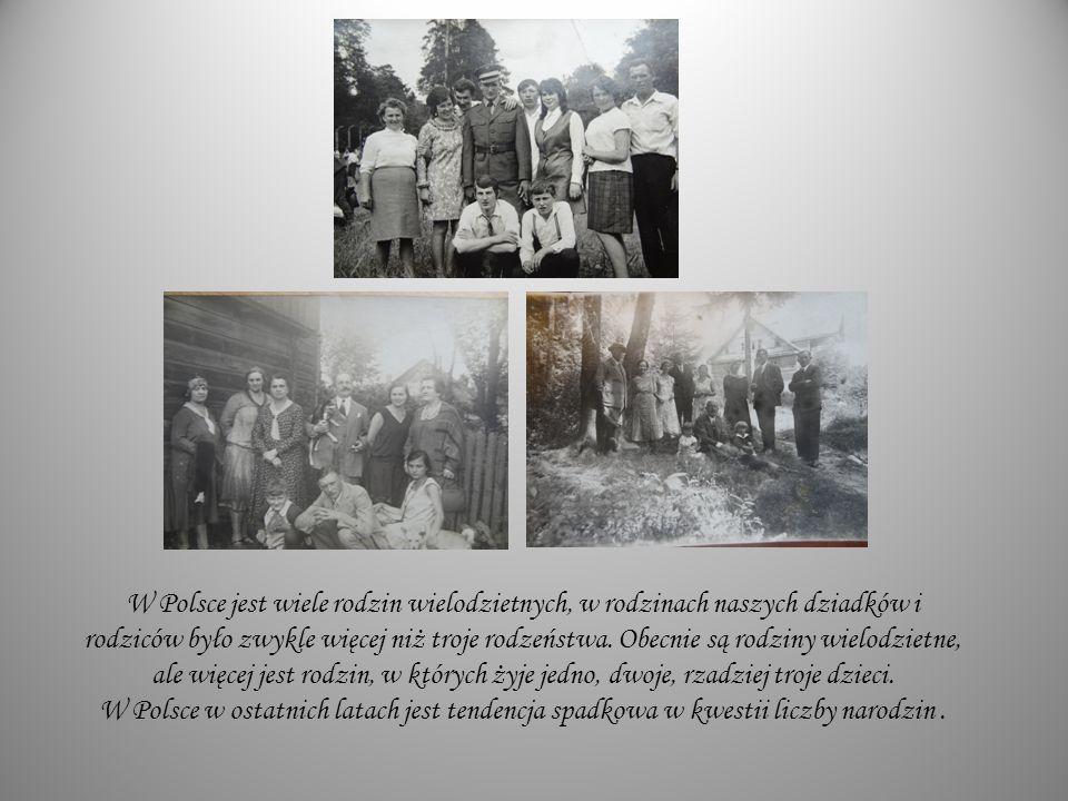 W Polsce jest wiele rodzin wielodzietnych, w rodzinach naszych dziadków i rodziców było zwykle więcej niż troje rodzeństwa.