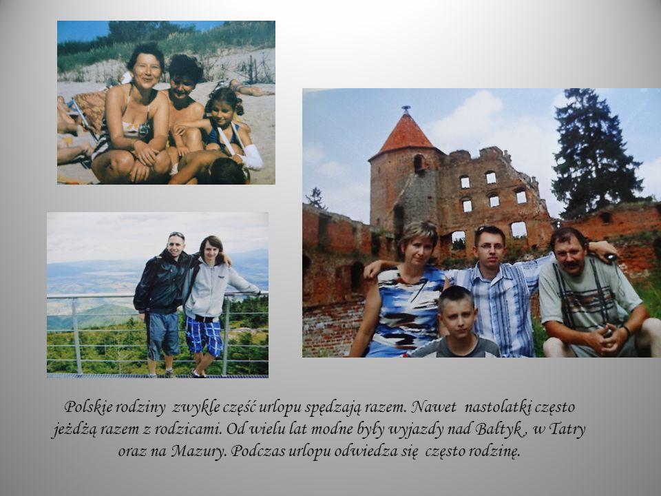 Polskie rodziny zwykle część urlopu spędzają razem