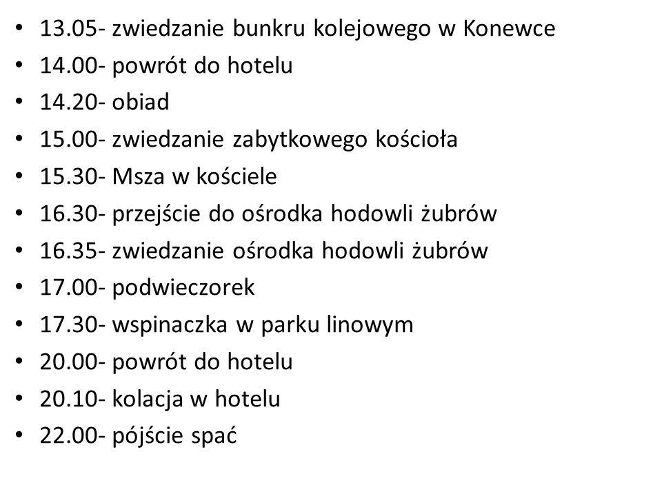 13.05- zwiedzanie bunkru kolejowego w Konewce
