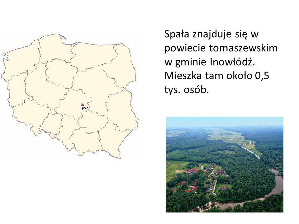 Spała znajduje się w powiecie tomaszewskim w gminie Inowłódź.