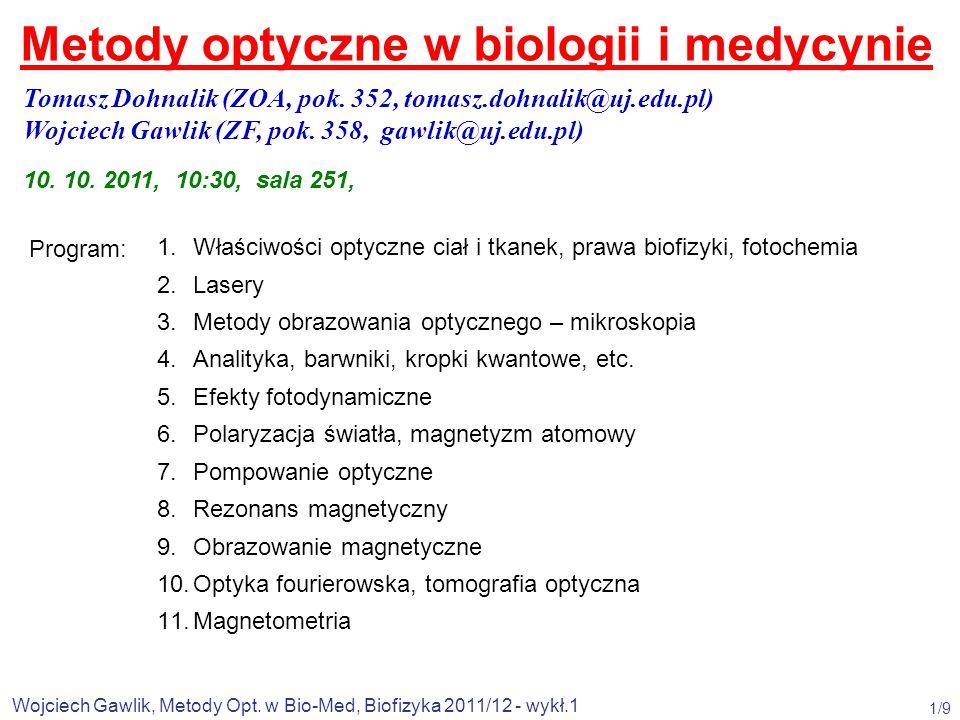 Metody optyczne w biologii i medycynie