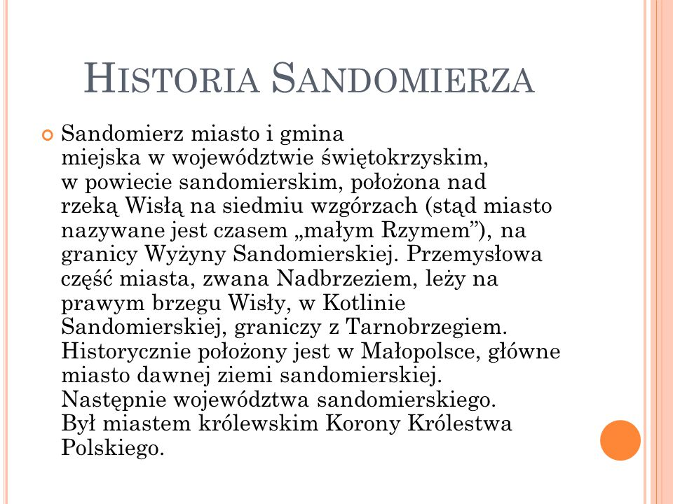 Historia Sandomierza