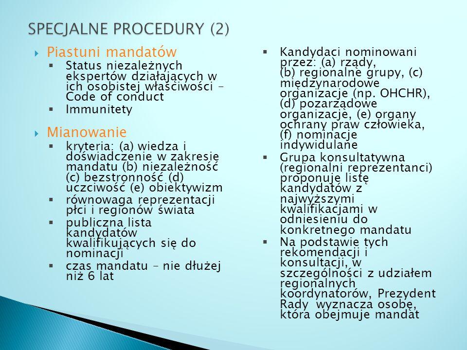 SPECJALNE PROCEDURY (2)