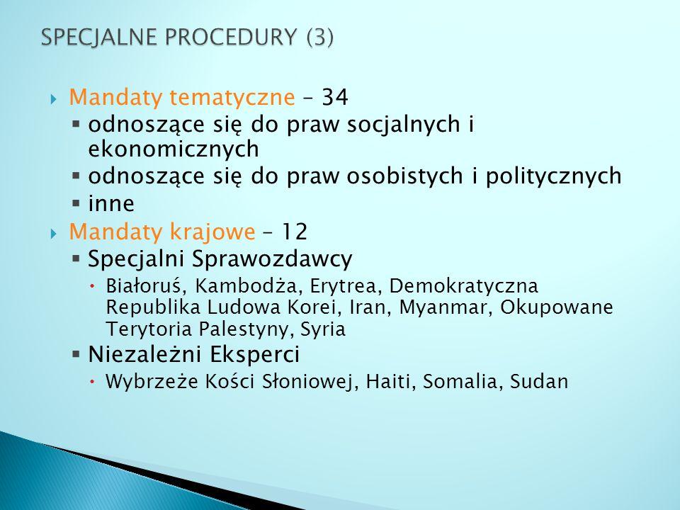 SPECJALNE PROCEDURY (3)