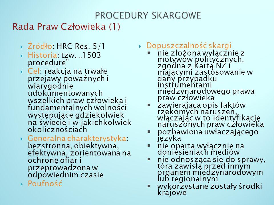 PROCEDURY SKARGOWE Rada Praw Człowieka (1)