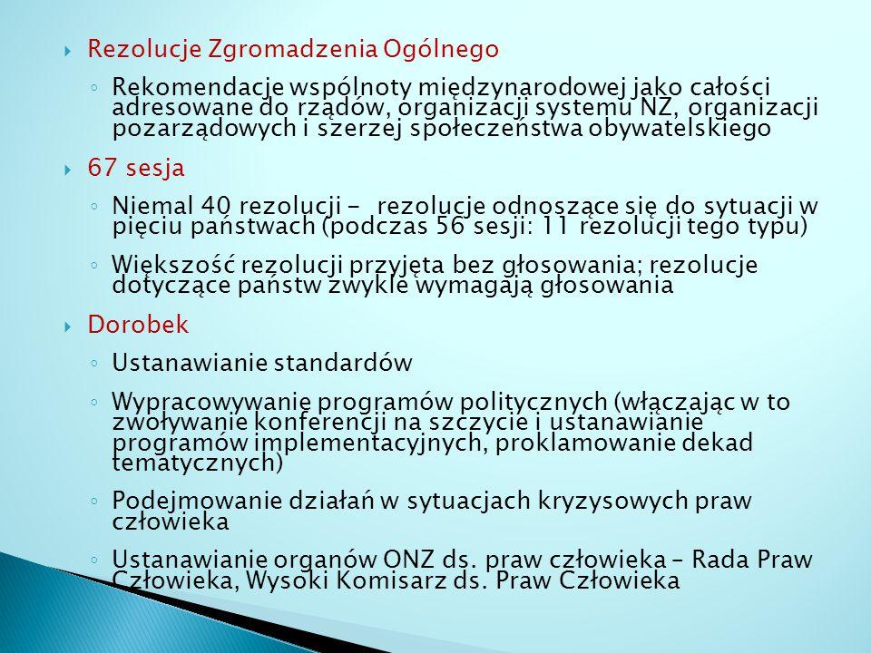 Rezolucje Zgromadzenia Ogólnego