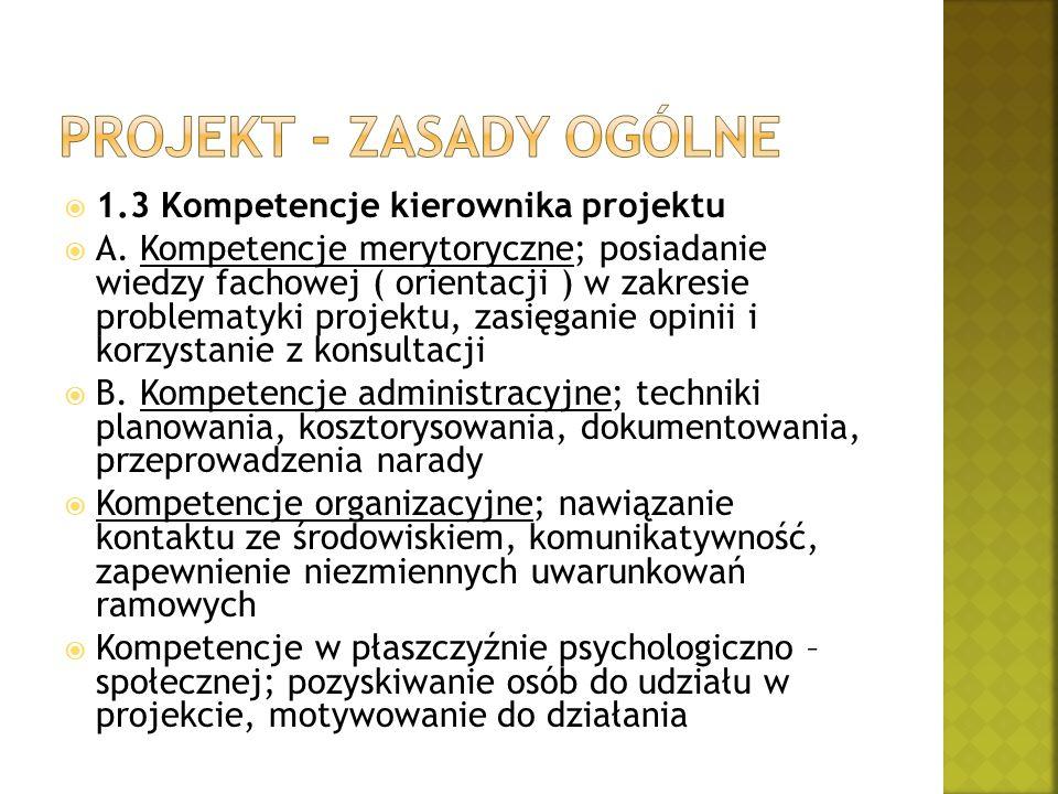 Projekt - zasady ogólne