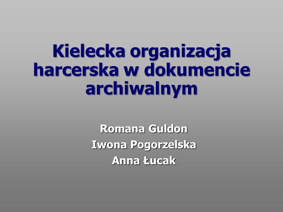 Kielecka organizacja harcerska w dokumencie archiwalnym