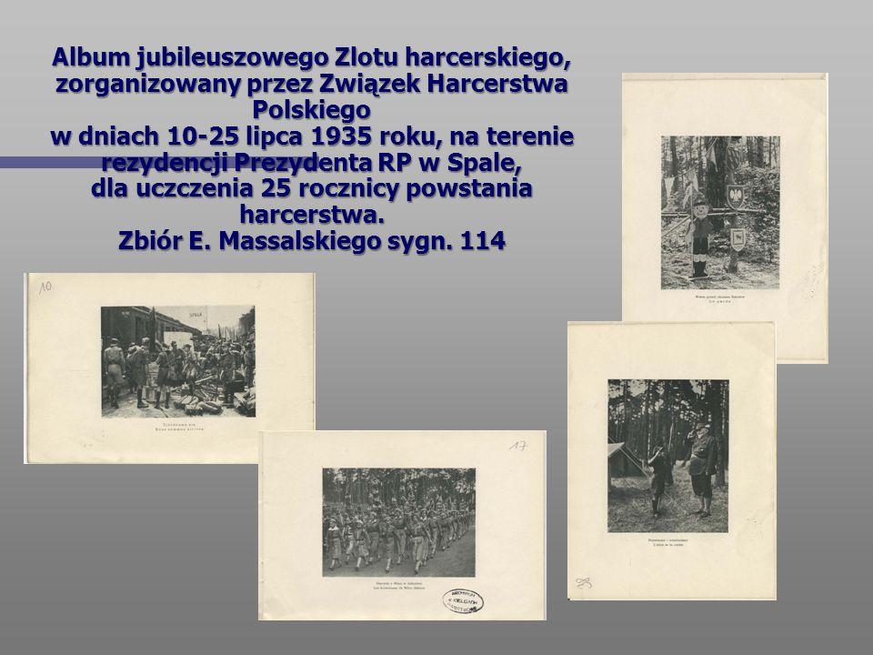 Album jubileuszowego Zlotu harcerskiego, zorganizowany przez Związek Harcerstwa Polskiego w dniach 10-25 lipca 1935 roku, na terenie rezydencji Prezydenta RP w Spale, dla uczczenia 25 rocznicy powstania harcerstwa.