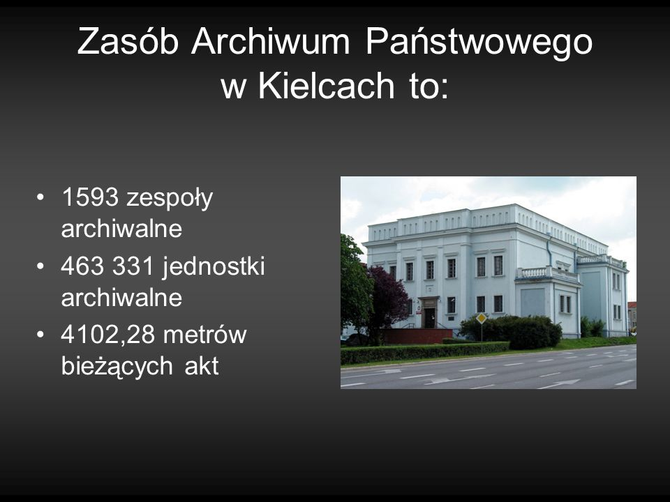 Zasób Archiwum Państwowego w Kielcach to: