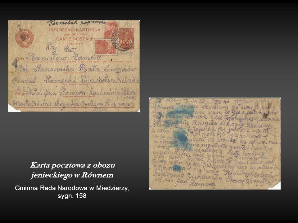 Karta pocztowa z obozu jenieckiego w Równem