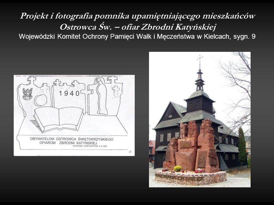 Projekt i fotografia pomnika upamiętniającego mieszkańców Ostrowca Św