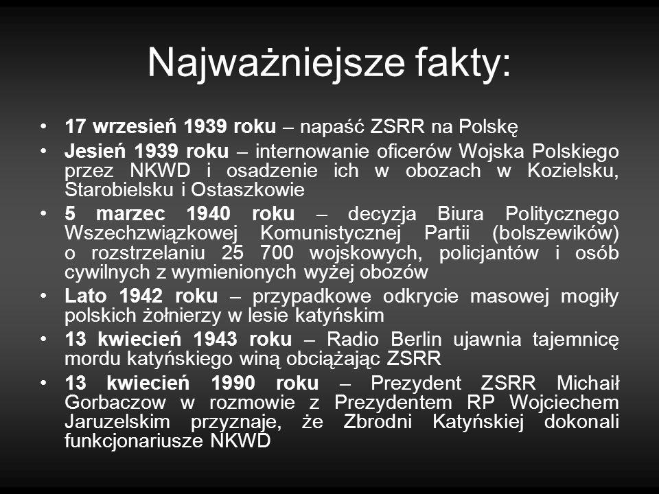 Najważniejsze fakty: 17 wrzesień 1939 roku – napaść ZSRR na Polskę