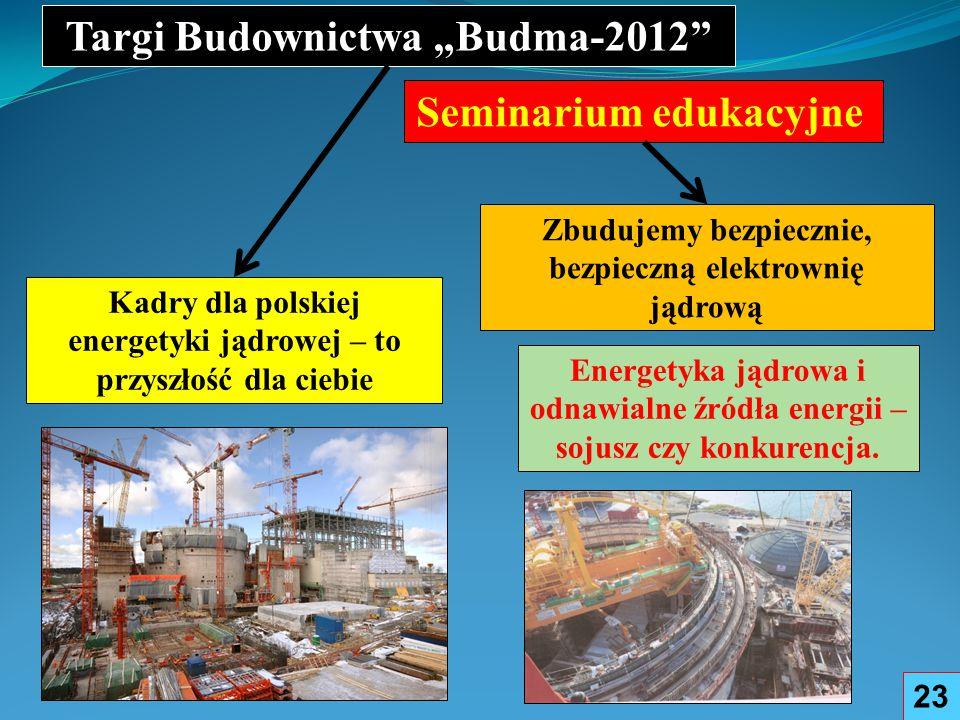 "Targi Budownictwa ""Budma-2012 Seminarium edukacyjne"