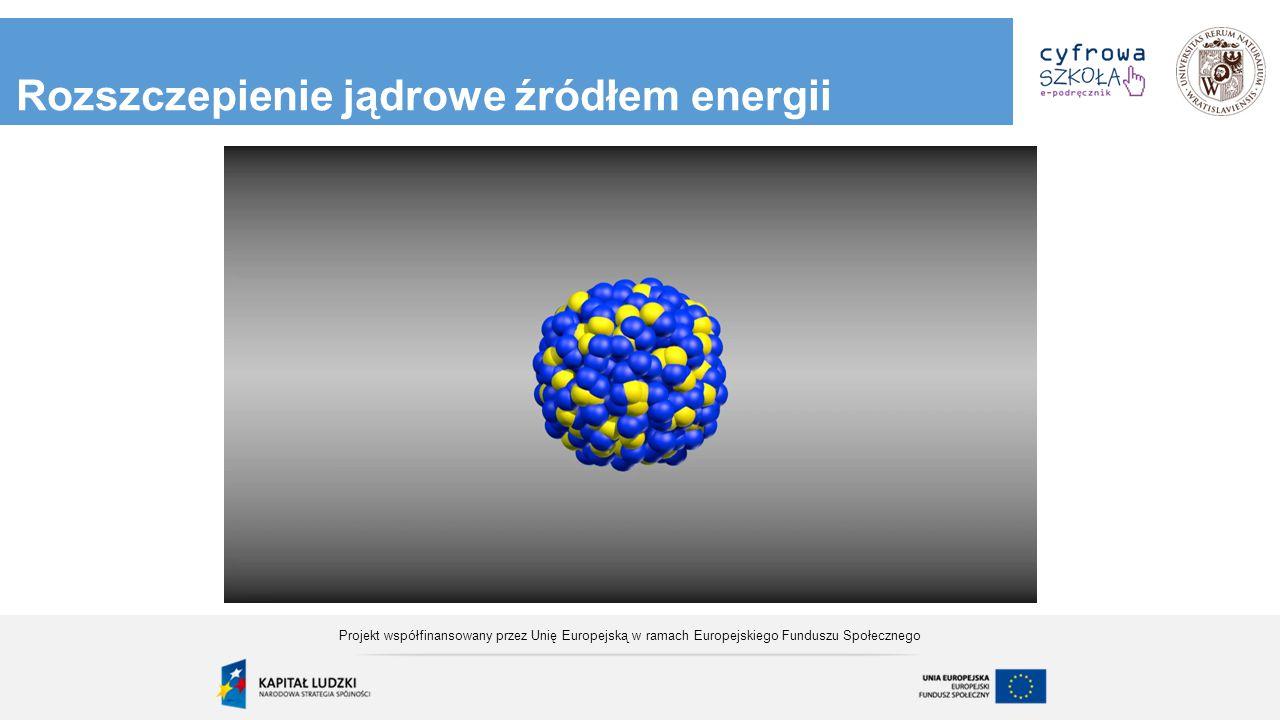 Rozszczepienie jądrowe źródłem energii