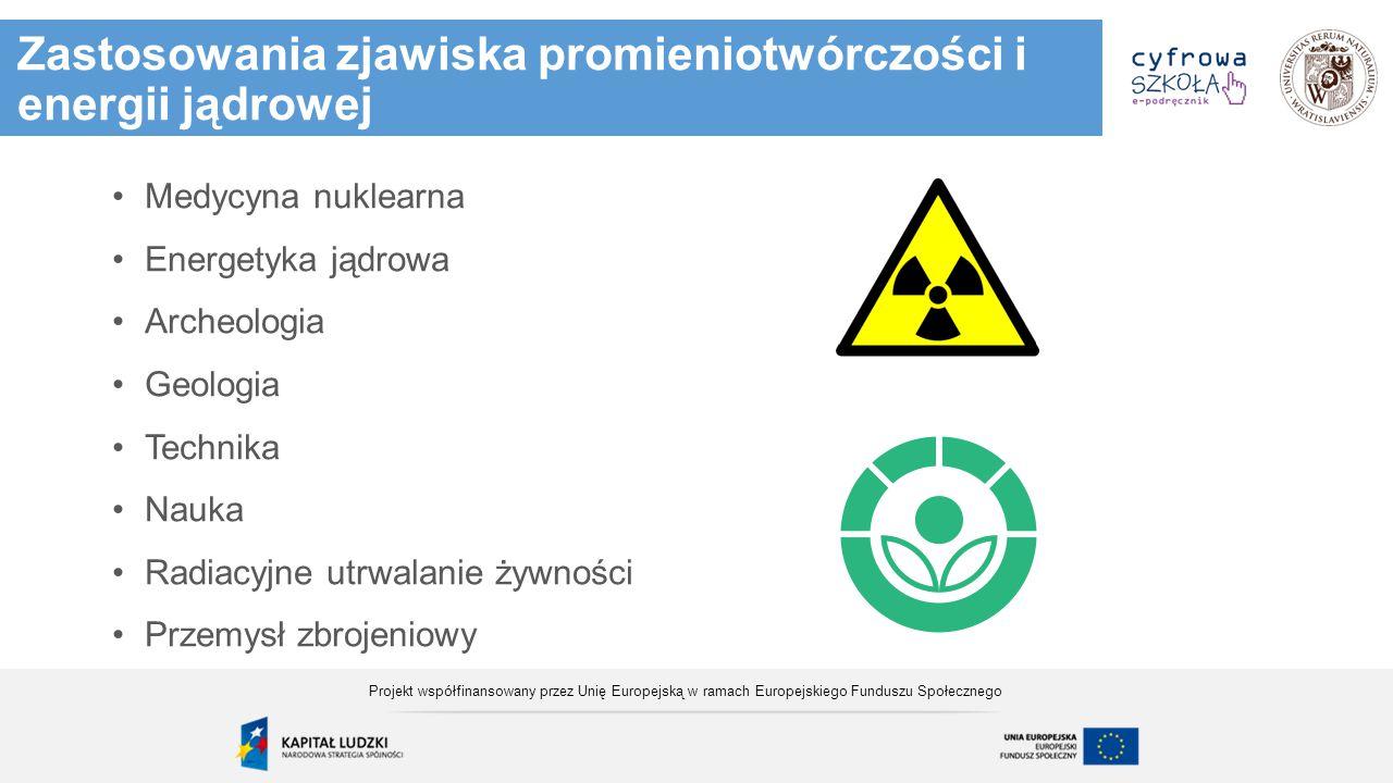 Zastosowania zjawiska promieniotwórczości i energii jądrowej