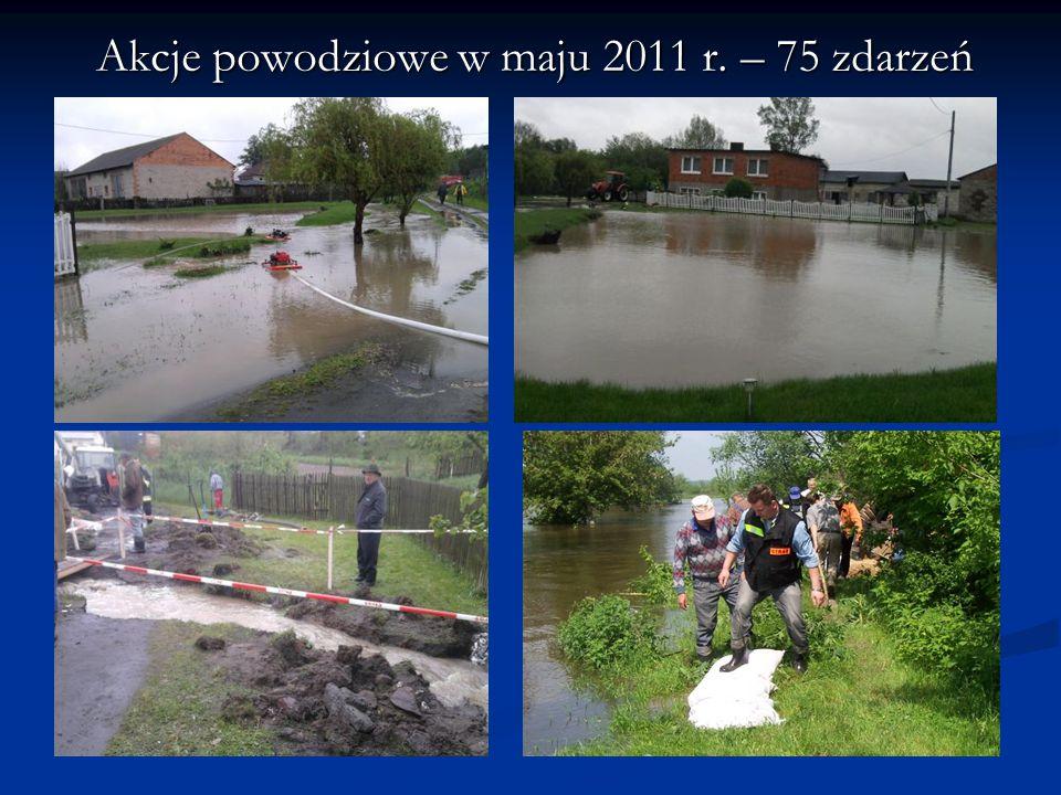Akcje powodziowe w maju 2011 r. – 75 zdarzeń