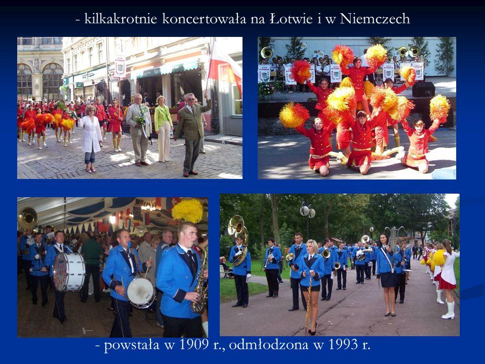 - kilkakrotnie koncertowała na Łotwie i w Niemczech
