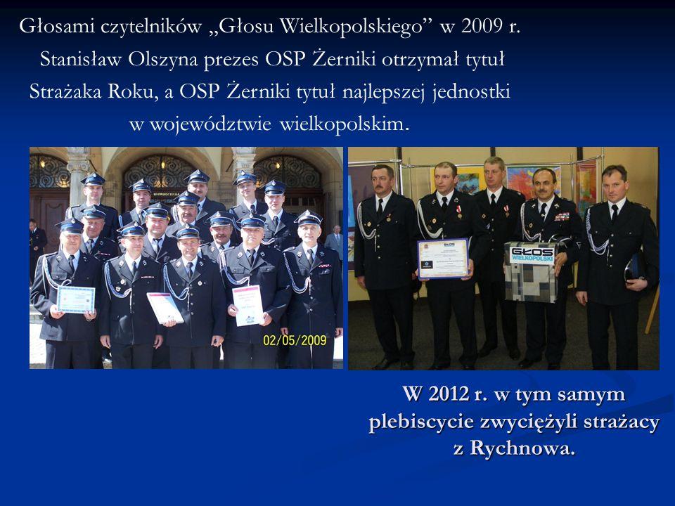 W 2012 r. w tym samym plebiscycie zwyciężyli strażacy