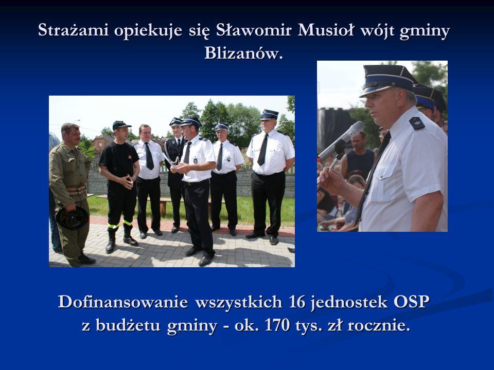 Strażami opiekuje się Sławomir Musioł wójt gminy Blizanów.