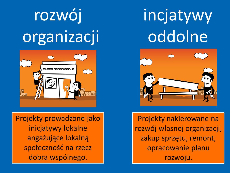 rozwój organizacji incjatywy oddolne Inicjatywy oddolne