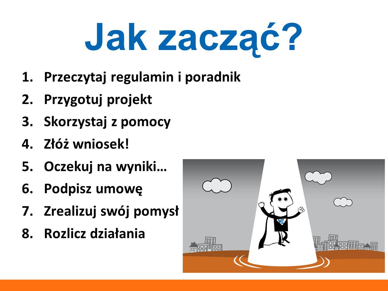 Jak zacząć Przeczytaj regulamin i poradnik Przygotuj projekt