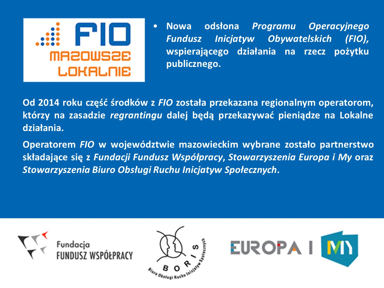 Nowa odsłona Programu Operacyjnego Fundusz Inicjatyw Obywatelskich (FIO), wspierającego działania na rzecz pożytku publicznego.