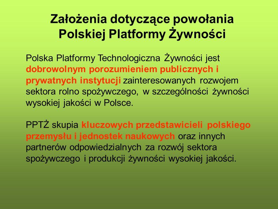 Założenia dotyczące powołania Polskiej Platformy Żywności