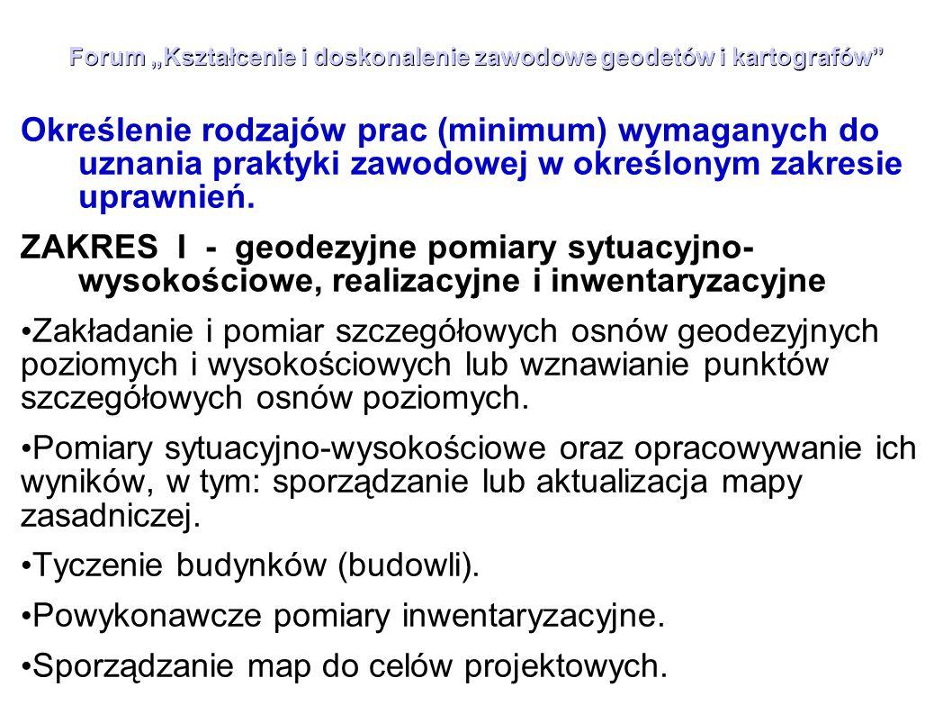 """Forum """"Kształcenie i doskonalenie zawodowe geodetów i kartografów"""