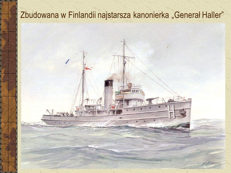 """Zbudowana w Finlandii najstarsza kanonierka """"Generał Haller"""