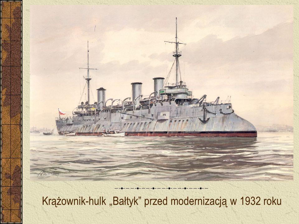 """Krążownik-hulk """"Bałtyk przed modernizacją w 1932 roku"""