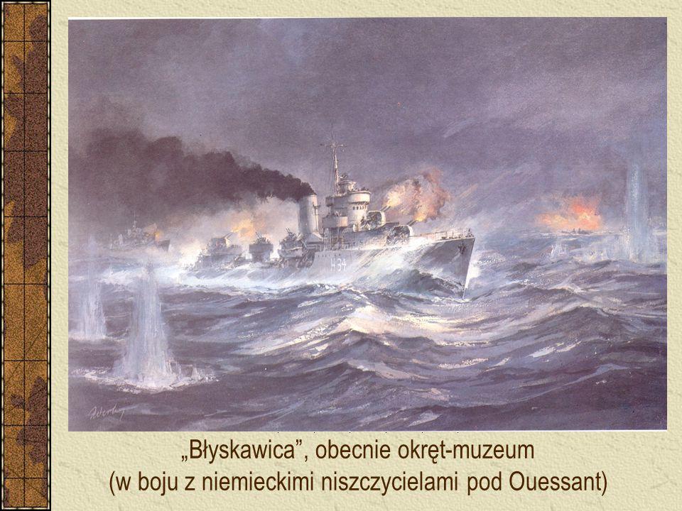 """""""Błyskawica , obecnie okręt-muzeum (w boju z niemieckimi niszczycielami pod Ouessant)"""