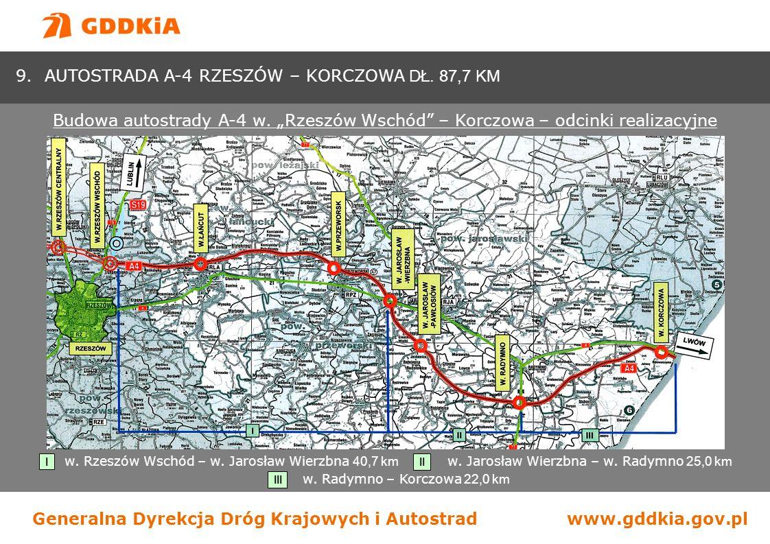 w. Rzeszów Wschód – w. Jarosław Wierzbna 40,7 km