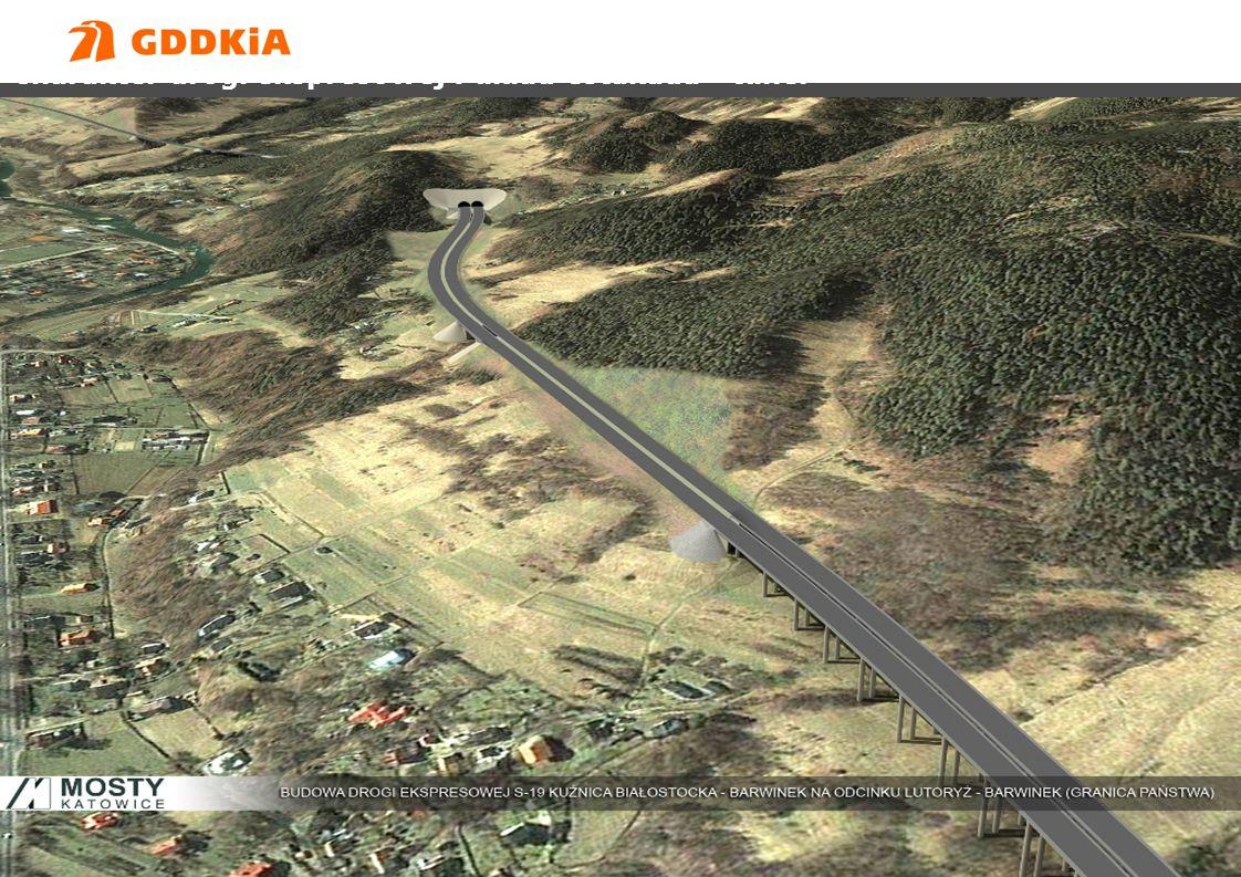 Charakter drogi ekspresowej : układ estakada - tunel