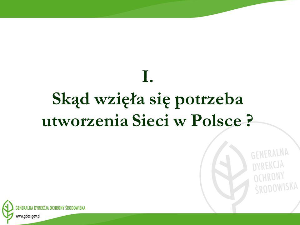 I. Skąd wzięła się potrzeba utworzenia Sieci w Polsce