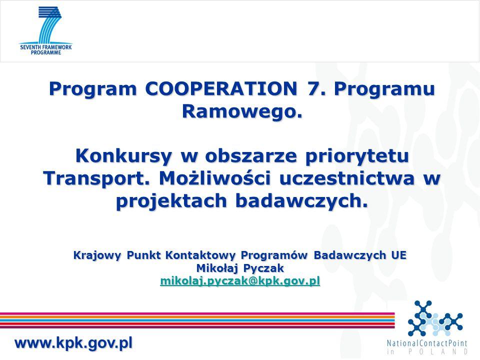 Program COOPERATION 7. Programu Ramowego